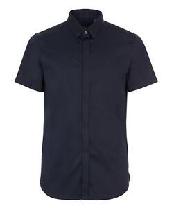 Shirt Armani Exchange AX Man Blue Short Sleeves Slim Fit