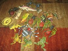 rubber plastic snake bugs spiders fish