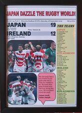 More details for japan 19 ireland 12 - 2019 rugby world cup - framed print