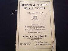 BROWN & SHARPE SMALL TOOLS CATALOGUE 1929