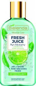 Bielenda Fresh Juice Detoxifying Micellar Liquid Lime Juice Salicylic Acid 100ml