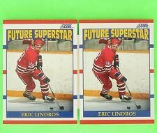 Lot of 2   ERIC LINDROS 1990-91  ROOKIEL FUTURE SUPER STAR Score  #440  Flyers