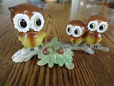 Vintage Norcrest Mama and Baby Owls