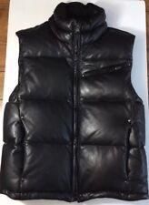 RLX Ralph Lauren Men's LAMBSKIN LEATHER PUFFER Vest SMALL Black *RARE $1,395*