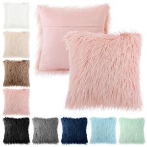 Fashion Faux Fur Pillow Cover Fluffy Throw Square Pillow Cushion Case Decorative
