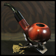 "Mr. Brog HAND MADE  WOODEN  SMOKING PIPE  no 48  "" Chochla ""   Orange   + Filter"