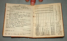 Original WW1 US Herbert Wright 104th Field Hospital Individual Pay Record Book