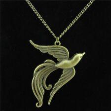 "12-1 Bronze Alloy Noble Phoenix Phenix Pendant Short Chain Chunky Necklace 18"""