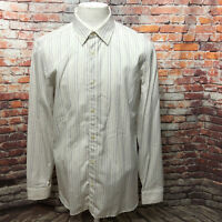 BURBERRY LONDON MEN'S STRIPED COTTON LONG SLEEVE DRESS SHIRT SIZE 16 1/2 A12-18