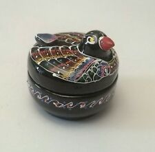 magnifique oiseau en laque,artisanal décoration,collection,boite   *16-S11