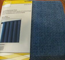 STYLE SELECTIONS CURTAIN DRAPE Chenille Basketweave Slate Blue Panel 031082