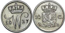 NETHERLANDS   10 CENTS 1827 B  KM#53