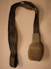 Original WW1-WW2 GERMAN Army Officers Bullion-Silver & Black Leather Sword Knot