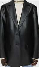Faux Leather Blazer Zara Size M RRP £50 Sold Out Brand New With Tags