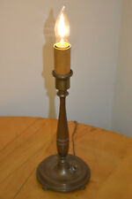 "Antique Stick Lamp Push Button Round Base 4 feet 13""1/2 Inches Tall"