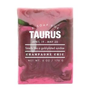 Scented 6oz Novelty Handmade Soap For Taurus Smells Like for Champagne Chic