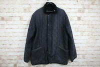 Barbour Navy Quilted Waxed Jacket size L