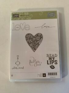 "NEW Stampin' Up 25th Anniversary Rubber Stamp Set - ""Best Of Love"" ***RETIRED***"