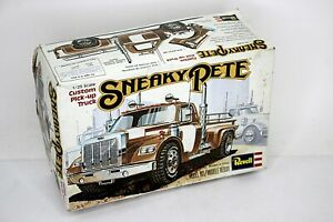 REVELL Sneaky Pete Pick Up Truck Model Kit 1:25 Scale Open Box Molded Brown