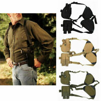 Universal Gun Armpit Holster Shoulder Pistol Holster with Double Magazine Pouch