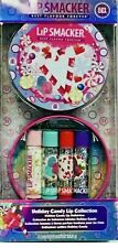 Lip Smacker Christmas Holiday Candy Flavours 4 x Lip Balm Collection in Tin New!