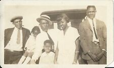 Antique African American Family Interesting RPPC Postcard Black Americana