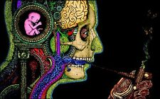"Psychedelic Trippy Art Silk Cloth Poster 40 x 24"" Decor 05"