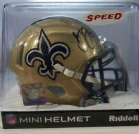 Marshon Lattimore Autographed New Orleans Saints Speed Mini Football Helmet BAS