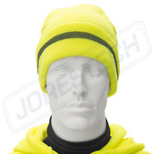 Safety Beanie Cap with Reflective Stripe