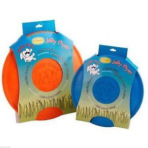Jolly Flyer Rubber Dog Frisbee 7.5 inch Orange