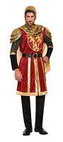 CRUSADER KNIGHT MEDIEVAL RED FANCY DRESS COSTUME ADULT MEN