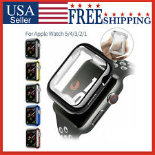 Apple Watch iWatch Series 5 4 3 2 1 Ruber Silicone Soft Case Cover 44 42 40 38mm