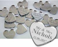 Personalised Wedding Love Hearts Mr & Mrs Table Confetti Decorations Mini Favour