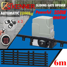 Sliding Electric Gate Opener 1800kg Automatic Motor Remote Kit Keypad 6m Track