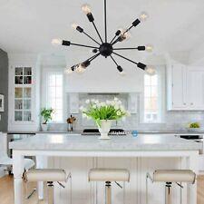 Black Sputnik Chandelier 12 Light Modern Ceiling Industrial Pendant Fixture Home