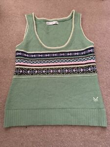SIZE 10CREW CLOTHING SLEEVELESS JUMPER VEST TANK TOP / WAISTCOAT LAMBSWOOL MIX