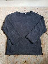 Jigsaw Grey Sweatshirt style 3/4 sleeve top with pockets size S