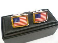 Manschettenknöpfe USA Flagge Amerika,Cufflinks,Neu