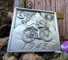 """Blotter Art Albert Hofmann 1943 Bicycle Day 3D Pin Lapel Hippie Fashion Pin 2"""""""