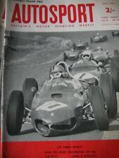 Autosport April 6th 1962 * Bruxelles grand prix & Pomeroy Trophy *