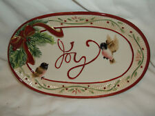 Fitz And Floyd Santa'S Forest Friends Sentiment Tray.Nib