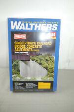 Walthers Cornerstone Single Track Railroad Bridge Concrete  Modellbausatz H0 F7