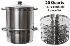 Uzbek 5 Level 20-Qt Stainless Steel Steamer Warmer Multi Cooker Mantovarka Manti