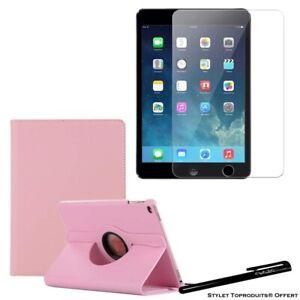 Housse Etui Rose pour Apple iPad Air / Air 2 + Vitre de protection