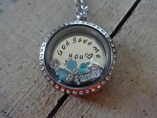 Floating charms locket mother necklace mom grandma Nana gift family personalized