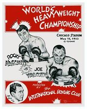 ROCKY MARCIANO VS JERSEY JOE WALCOTT FIGHT POSTER 8X10 PORTRAIT