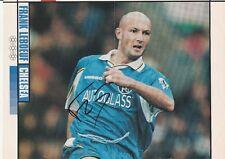 Frank Leboeuf Chelsea 1996-2001 revista original firmada a mano doble página