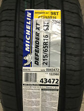 2 New 215 65 16 Michelin Defender XT Tires