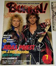 JUDAS PRIEST BURRN! MAGAZINE #7 86 Japan Heavy Metal David Lee Roth Motley Crue
