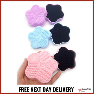 Silicone Makeup Brush Cleaner Pad Dry Sponge Box Make up Remover Cleaning Tool